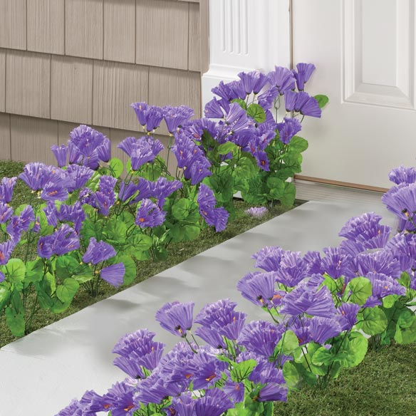 Artificial Purple Petunias