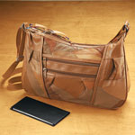 Handbags & Wallets - Saddle Brown Patch Leather Organizer