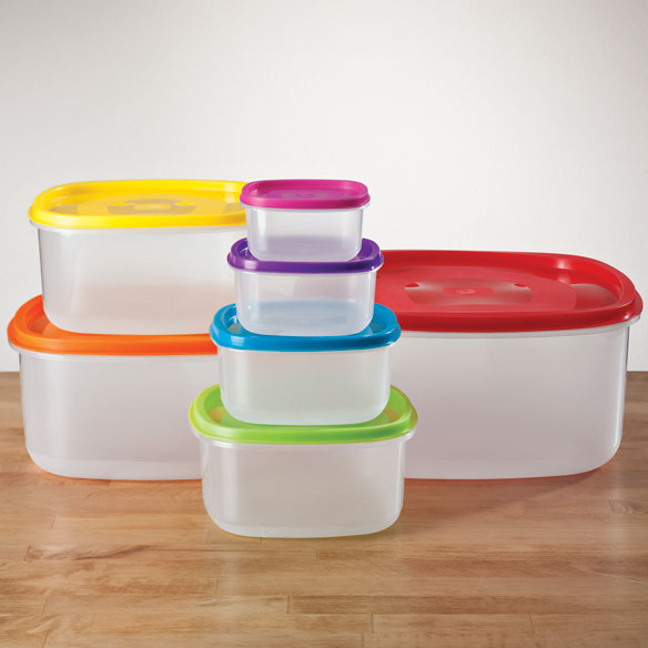 Multi-Colored Storage Containers - Set of 7 - View 1