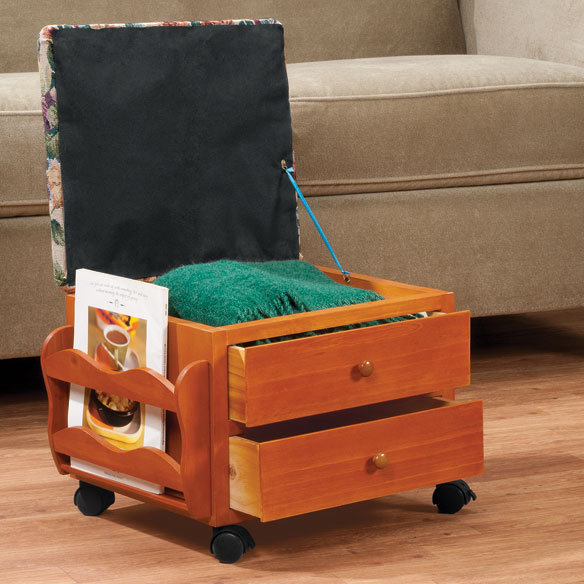 Multi Storage Rolling Ottoman by OakRidge™ Accents - View 1