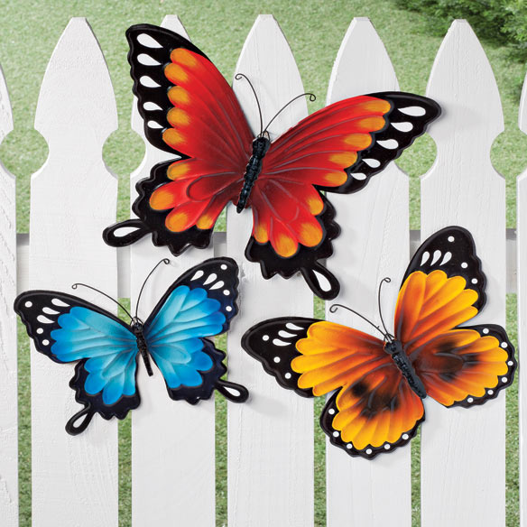 Lawn garden outdoor wdrake for Outdoor butterfly decor