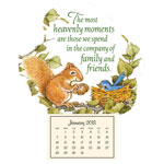 Flash Sale - Mini Heavenly Friends Magnetic Calendar