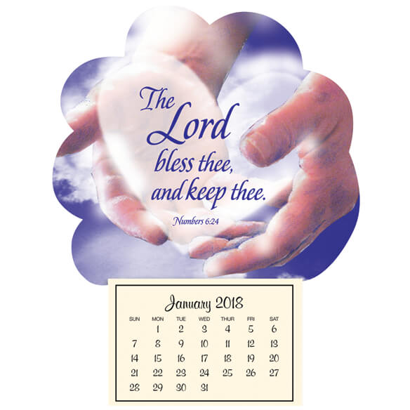 "Mini ""In God's Hands"" Magnetic Calendar - View 1"