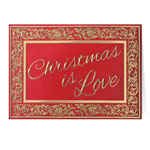 Christmas Cards - Christmas is Love Christmas Card Set of 20