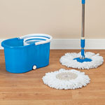 Holiday Helpers - Clean Spin 360° Microfiber Mop and Bucket Set