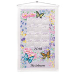 Calendars - Personalized Butterfly Garden Calendar Towel