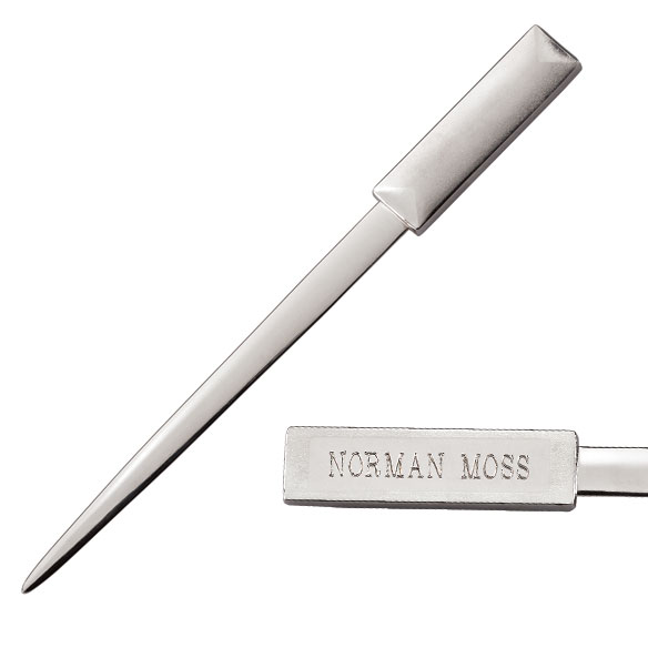 Two-Tone Brushed Metal Personalized Letter Opener
