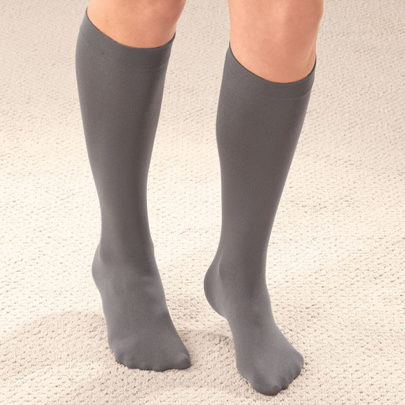 Fleece Lined Knee Highs - 2 Pairs - View 1