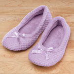 Comfy & Cozy - Chenille Ballet Slippers