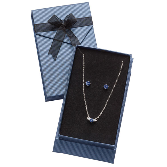 Claremont Sterling Necklace & Earring Set