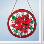 Holidays & Gifts - Poinsettia Suncatcher