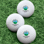 Closeout Deals - Personalized Hole In One Golf Balls - Set of 6