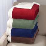 "White Sale - Ultra Plush Microfiber Sherpa Throw - 50""x60"" by OakRidge Comforts™"