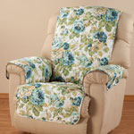 English Floral Microfiber Recliner Cover