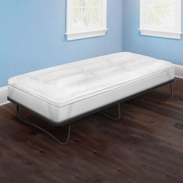 Soft Tex 2 5 Memory Foam And Fiber Bed Mattress Topper