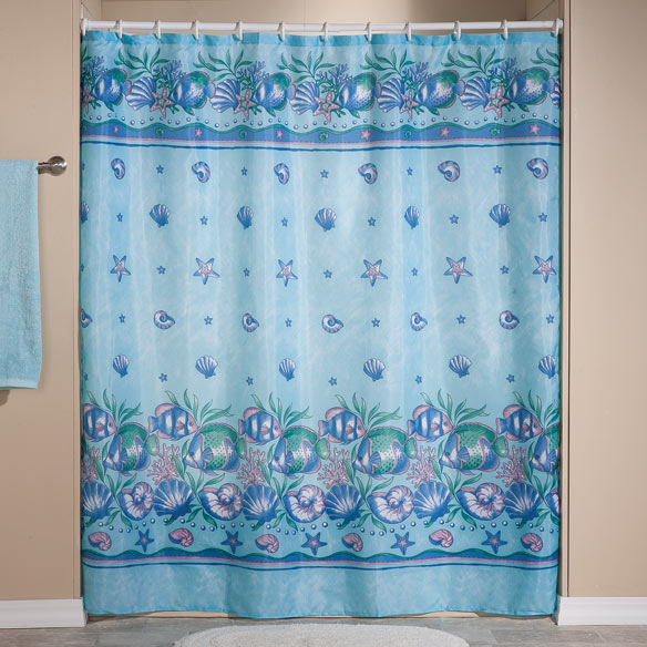 Violet Floral Shower Curtain - Long shower Curtain - Walter Drake