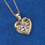 Quick Gift Ideas - Heart Cross Pendant with Mustard Seed