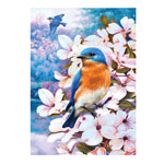 Home - Bluebirds and Blossoms Jigsaw Puzzle