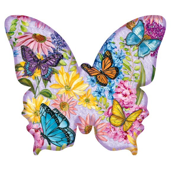 Butterfly Garden Shaped Puzzle