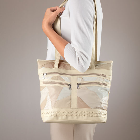 Two Piece Patch Leather Tote