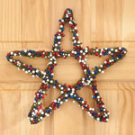 Decorations & Storage - Grapevine Patriotic Berry Star Wreath