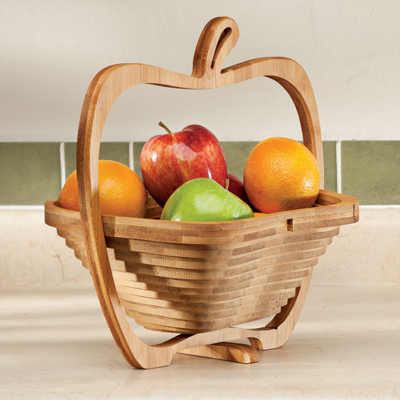 2-in-1 Bamboo Basket & Trivet - View 1