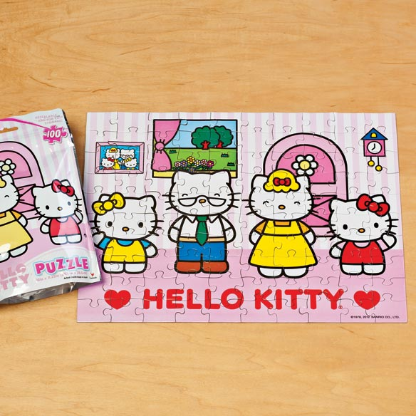 Hello Kitty® 100 Piece Foil Puzzle - View 1