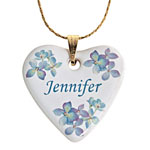 Jewelry & Accessories - Personalized Porcelain Heart Necklace With Chain