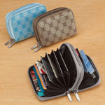 Safe Holiday Travel - Jacquard Accordion RFID Wallet