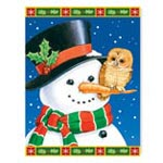 Holidays & Gifts Sale - Snowman and Owls Non Personalized Christmas Card Set of 20