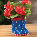Decorations & Storage - Patriotic Rain Boots Planter