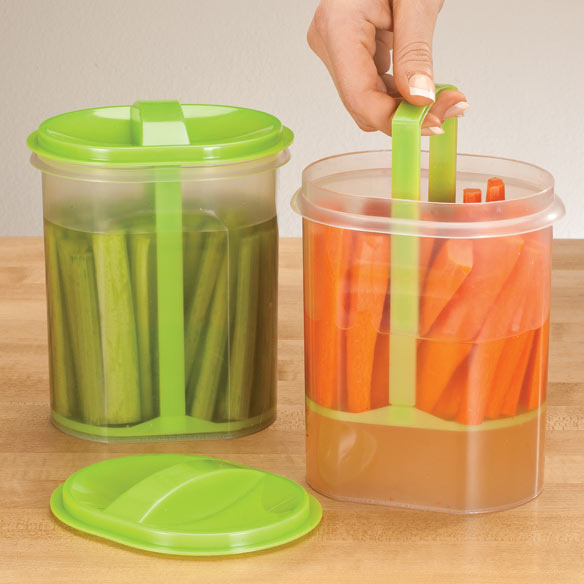 Two-Section Veggie Holder