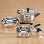 Kitchen - 5 Pc. Stainless Steel Cookware Set
