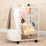 Clothes Care - Bath Cart with Hamper