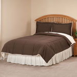 Bedroom Basics - Sherpa Lined Alternative Down Comforter with Shams