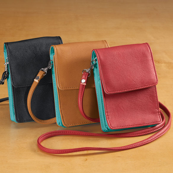 RFID Blocking On-The-Go Crossbody Bag