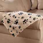 Pets - Personalized Paw Print Pet Blanket