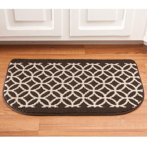 "Memory Foam Wedding Ring Rug Slice 18"" x 30"""