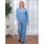 Comfy & Cozy - Knit Fleece Pants Set