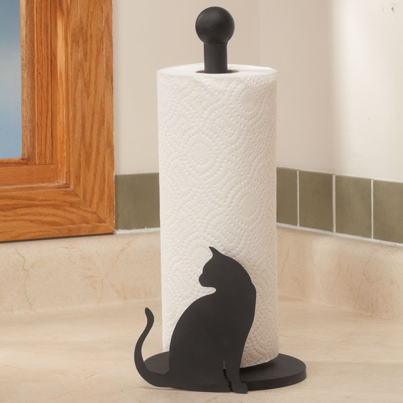 Cat Silhouette Paper Towel Holder