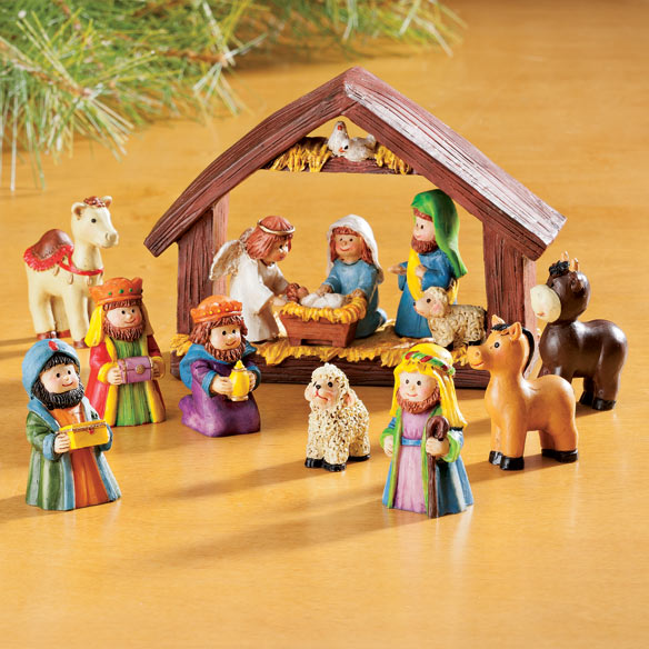 Resin Tabletop Nativity Set