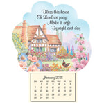 "Labels & Stationery - Mini Magnetic ""Bless This House"" Calendar"