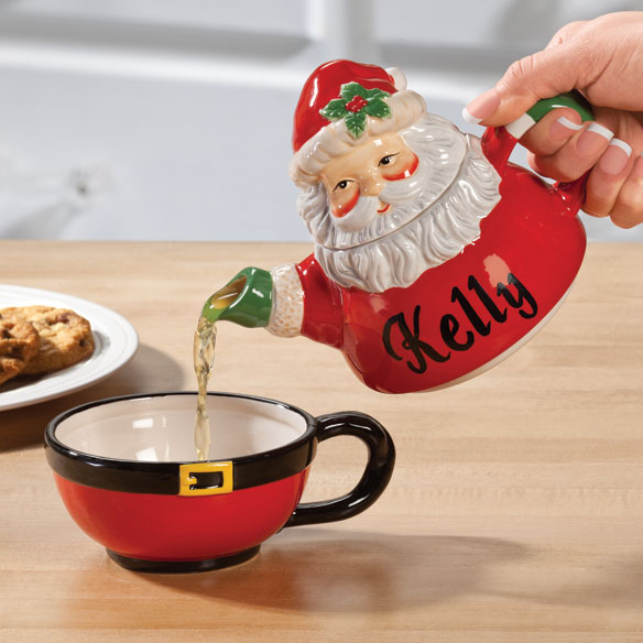 Personalized Santa Teapot for One - View 1