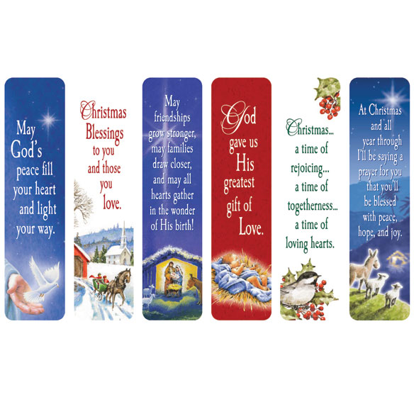 Religious Christmas Bookmarks, Set of 12 - Walter Drake