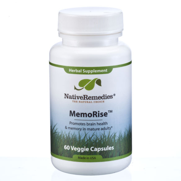 NativeRemedies® MemoRise™ - 60 Veggie Capsules - View 1