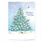 World Religion Day  - God Grew the Tree Personalized Christmas Card - Set of 20