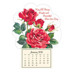 "Labels & Stationery - ""Roses in Bloom"" Mini Magnetic Calendar"