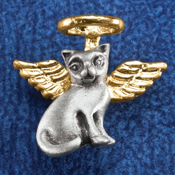 Cat Angel Pin - View 1