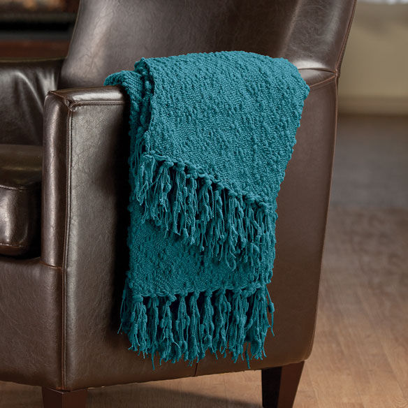 The PomPom Yarn Throw by OakRidge™ - View 1