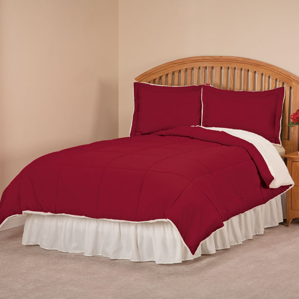 Sherpa Lined Alternative Down Comforter with Shams by OakRidge™ Comforts - View 1